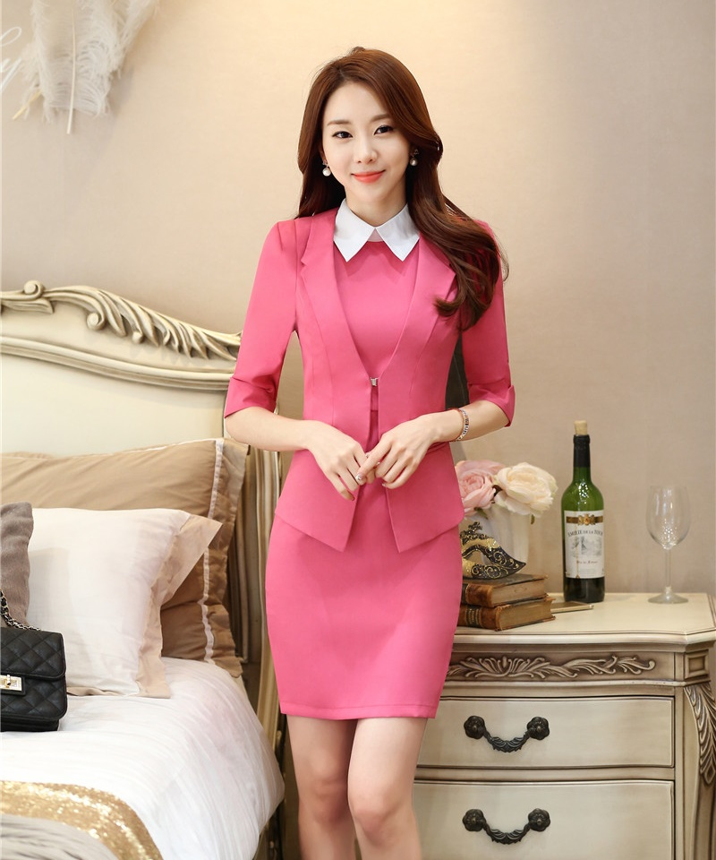 Spring Summer Ladies Dress Suits For Women Business Suits Formal