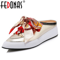 FEDONAS New Fashion Concise Women Flats Genuine Leather Comfortable Breathable Casual Shoes High Heels Party Basic Shoes Woman
