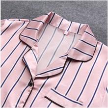 Striped Soft Pajamas for Women 7 pcs Set
