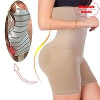 NINGMI пикантные прикладом атлет для женщин для похудения Корректирующее белье животик Управление трусики женщин Высокая талия тренажер