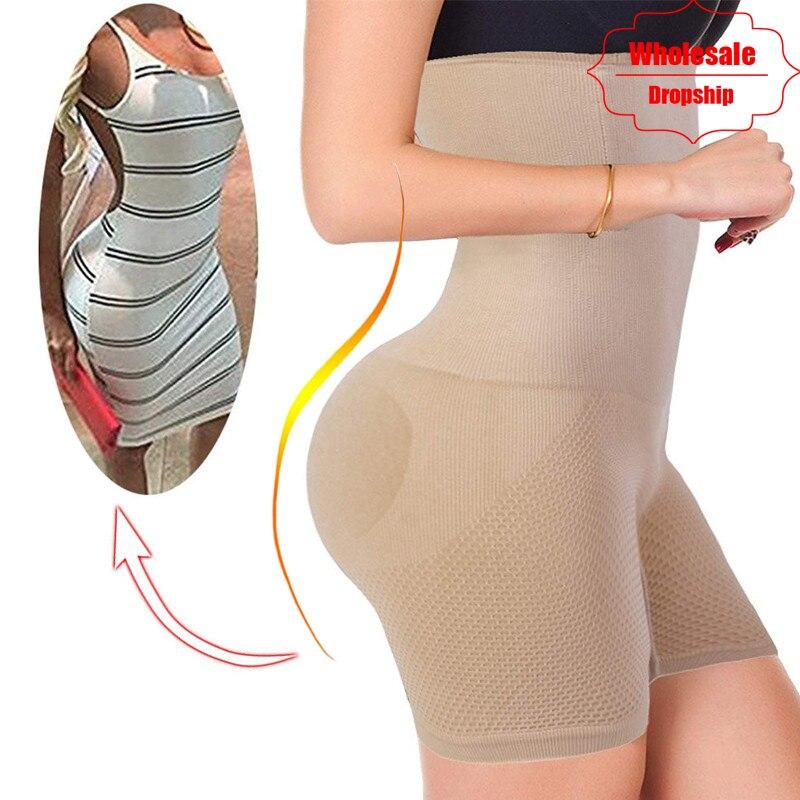 NINGMI Sexy Butt Lifter mujeres adelgazamiento Shapewear Control de la panza alta cintura entrenador cuerpo Shaper Boyshort apretado corto poder