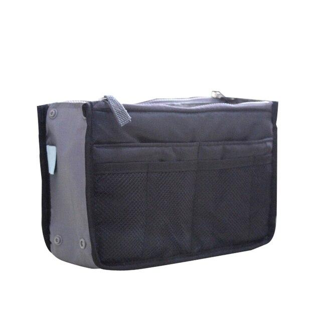 Organizer Insert Bag Women Nylon Travel Makeup Cosmetic Handbag Tote 1