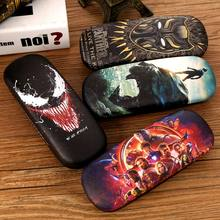 New Spider-Man Iron Man Hulk Captain America Myopia Glasses Case Boy and Girl HD 3D Printed Pressure-proof Portable Eyewear Box(China)