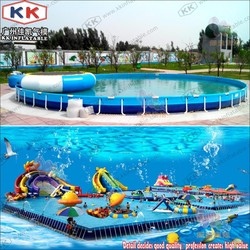 Amusement Water Park,Stents Pool Play Equipment Pipe Frame Pool