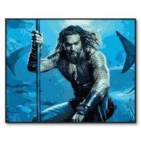 Aquaman Foto Olieverf Door Getallen Kits Voor Volwassenen Wall Art Diy Digitale Canvas Verf Home Decor Woonkamer