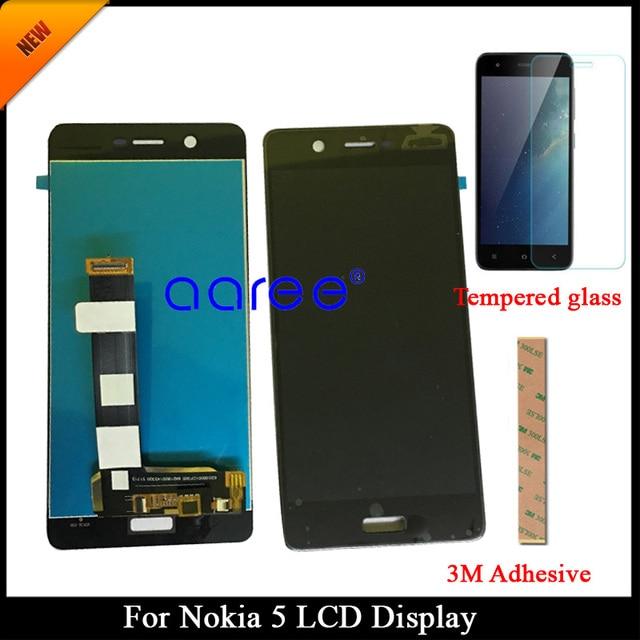 100% נבדק כיתה AAA LCD תצוגה עבור Nokia 5 TA-1024 עבור Nokia 5 LCD מסך מגע Digitizer עצרת + מזג זכוכית
