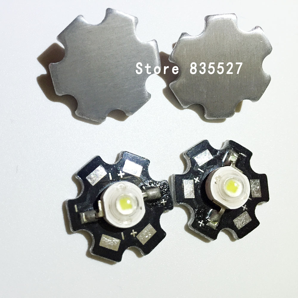 2pcs 3W white LED Heat Sink Aluminum Base Plate PCB Board Substrate 20mm LM Parts / Flashlight / Bulb Spotlight for DIY lights цена