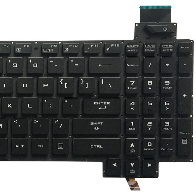 Nowe US podświetlana klawiatura laptopa do asus rog Strix GL503 GL703 GL503V GL503VD GL503VD-DB71 GL503VD-DB74 GL503VM GL503VS