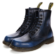 New Brand Men Chelsea Snow Boots Leather Winter Autumn Motorcycle Ankle Boots Me