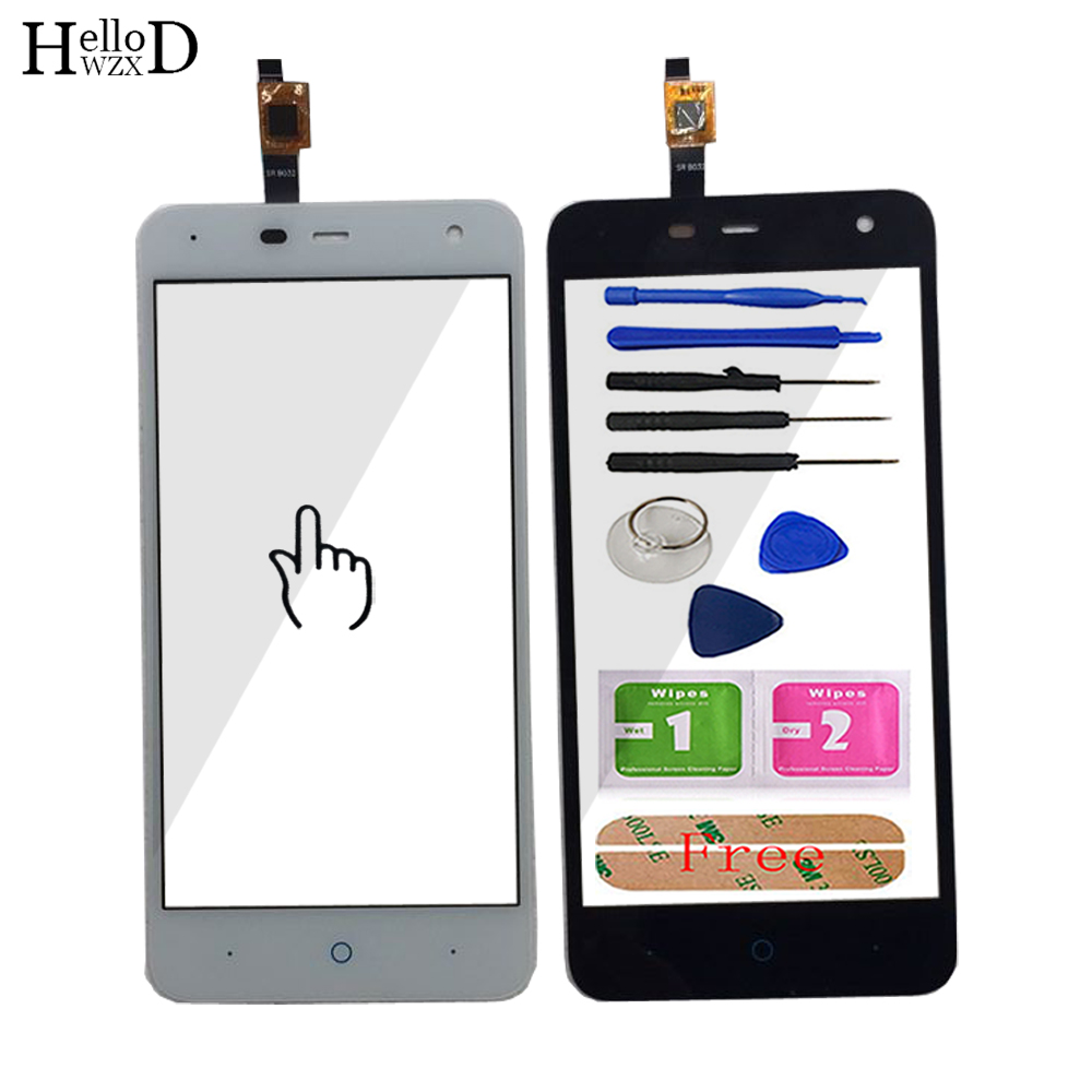 5.0'' Touch Screen Front Glass For ZTE Blade L4 Pro A465 Touch Screen Glass Digitizer Panel Sensor Flex Cable Adhesive Tools