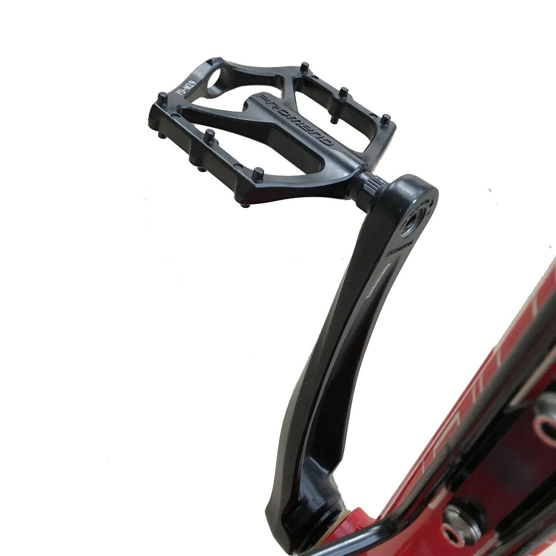 1 paire de pédales de roulement en alliage d'aluminium léger PROMEND VTT pour BMX route vtt vélo vélo accessoires