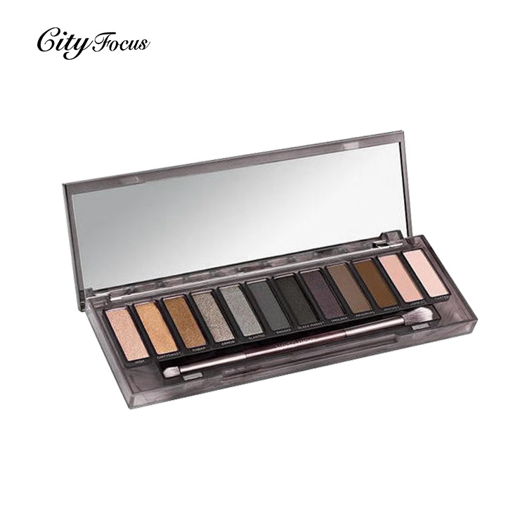 Hot selling 2 color eye shadow tray, smoked cosmetics plate, non staining, lasting modification eye shadow free shipping