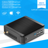 XCY Fanless Computer Celeron N2920 N2840 Pentium N3510 1 83GHz Quad Core Linux Windows Mini PC