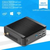XCY Fanless Computer Celeron N2920 N2840 Pentium N3510 1 83GHz Quad Core Linux Windows Mini PC