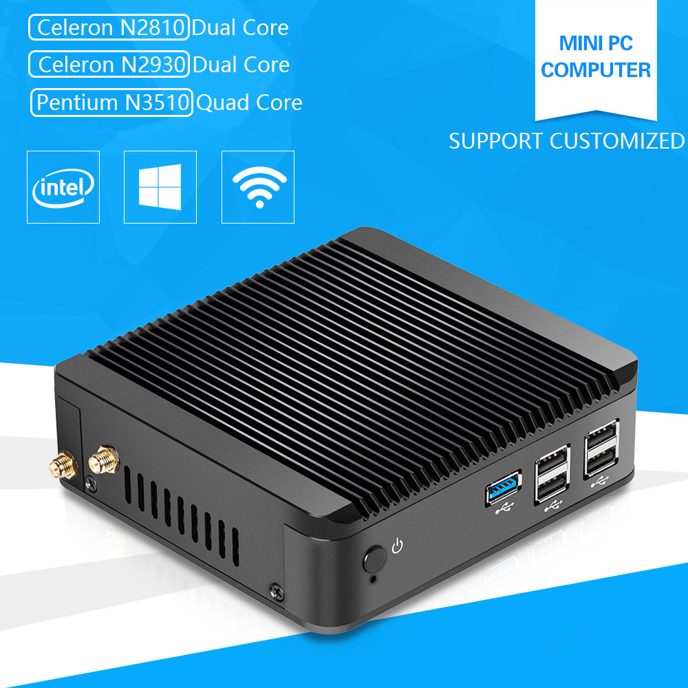 Pentium N3510 Mini PC Computer with Celeron N2920 1.83GHz Quad-Core Linux Windows10 4G Ram Hdmi Vga USB 3.0 Wifi promotion mini pc intel pentium n3510 quad core windows 10 linux mini computer pc with wifi htpc tv box computadora