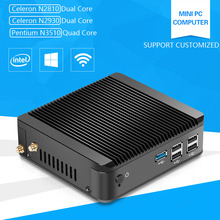 XCY Fanless Mini PC Computer Celeron N2920 Pentium N3510 1.83GHz Quad-Core Linux Windows with HDMI USB 3.0
