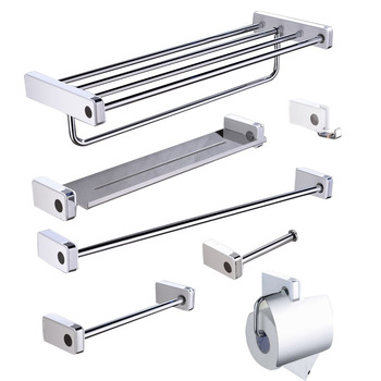 Bathroom Hardware Accessories,Stainless Steel,polish,Household Toilet Paper Holder,soap Dish with Hook,singe Towle Bar 30cm/60cm