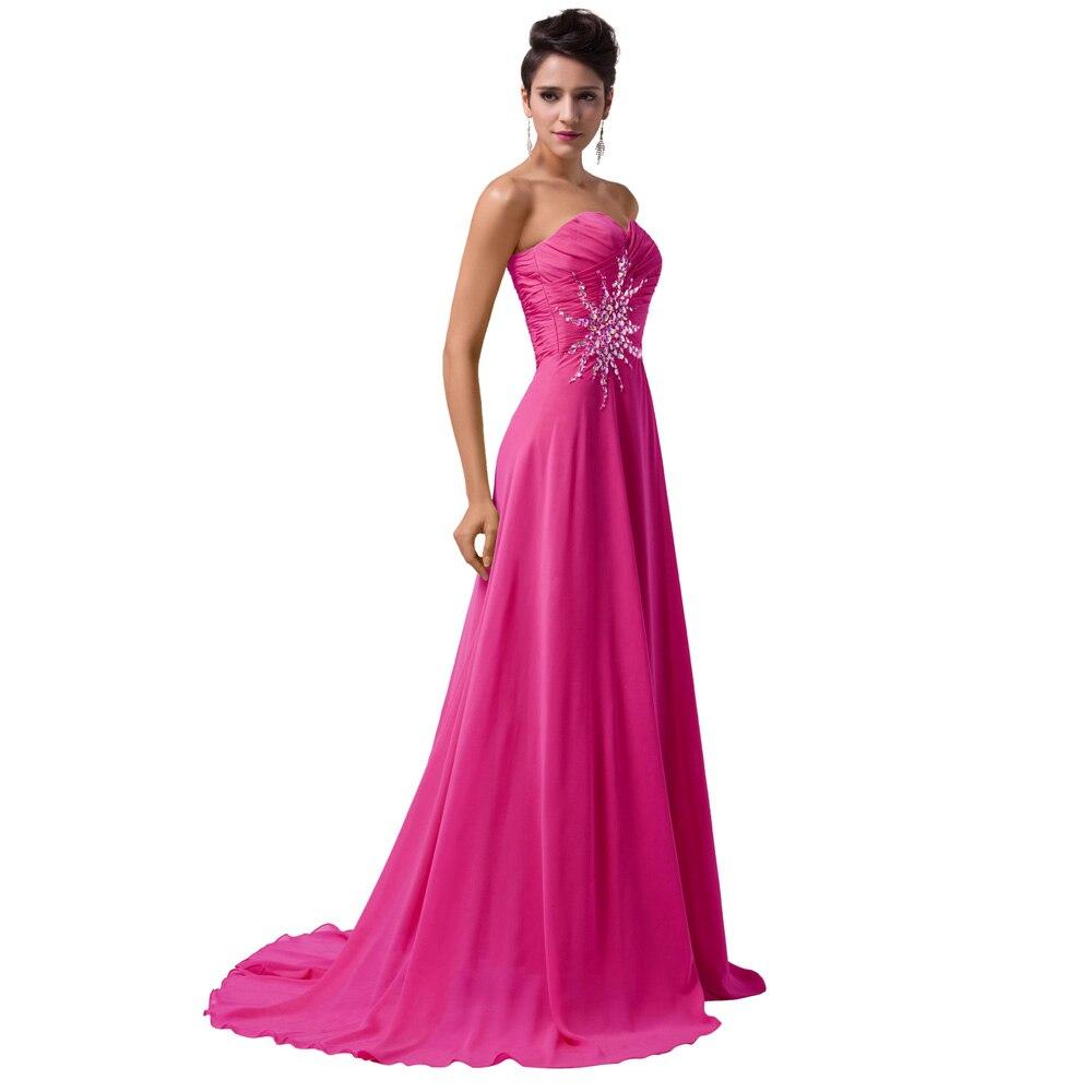 Sirena vestido de noche gracia Karin imperio gasa con cuentas sin ...
