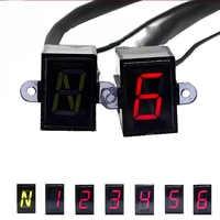 Super 6 pantalla de velocidad Digital Universal off-road motocicleta motocross luz Neutral Gear indicador