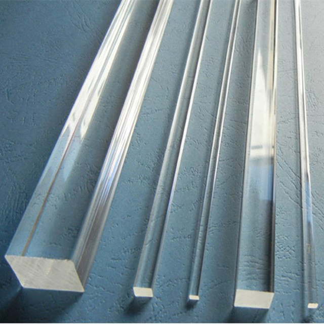 4pcs Acrylic Rod Square Clear 50x50x1000mm  (Extruded) Aquarium Perspex Furniture Plastic Transparent Bar Home LED Decor