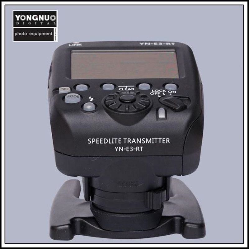 Yongnuo trigger flash trigger YN-E3-RT TTL Flash Speedlite Wireless Transmitter for Canon 600EX-R yongnuo yn e3 rt 2 4g 16 ch wireless speedlite transmitter black 2 x aa