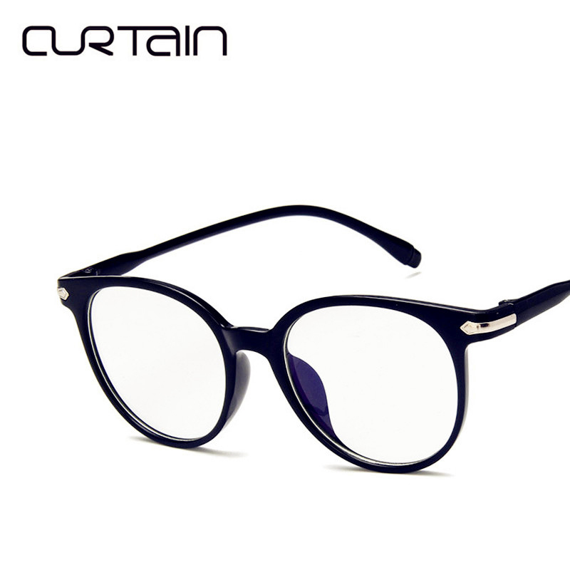 CURTAIN Retro Round Full Frame Ultralight Reading Glasses For Women Men Clear Lens Female Male Eyewear Frame Eyeglasses Unisex