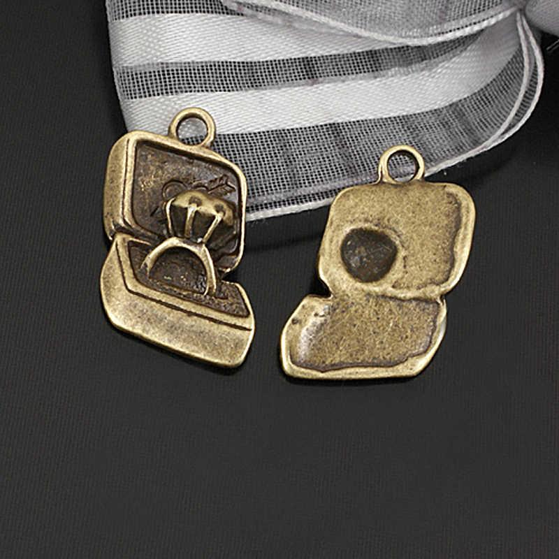 (23880) 20 piezas 17x12MM anillos de aleación de Zinc de bronce antiguo colgantes de joyería Diy Accesorios al por mayor