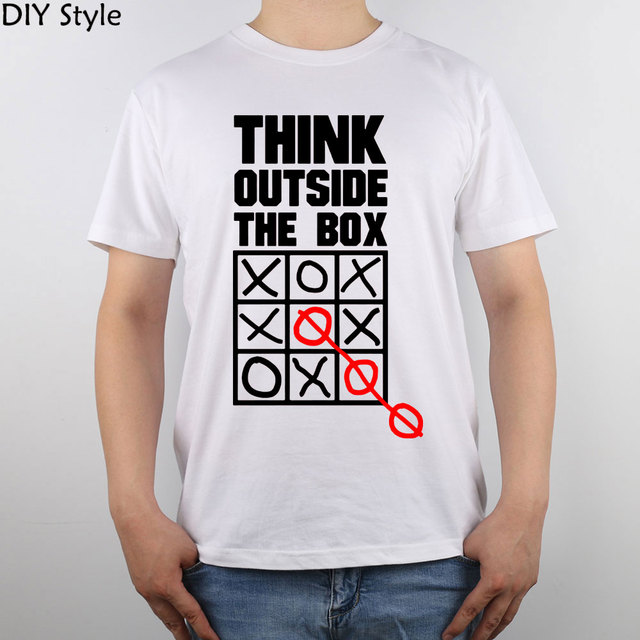5bdb5226a Think Outside The Box Cafe t shirt Top Pure Cotton Men T Shirt-in T ...