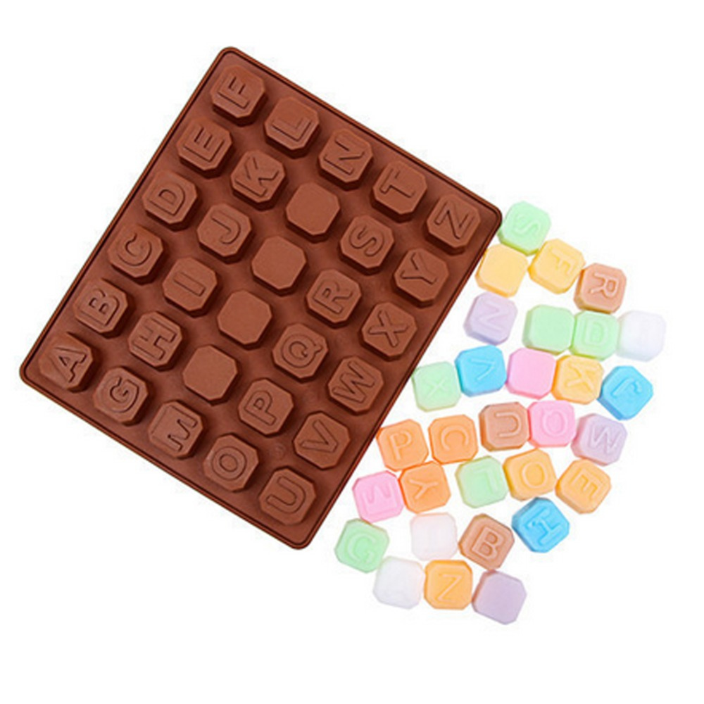 new silicone 26 letter 4 blank shape candy cake jelly modelling tool chocolate cake molds