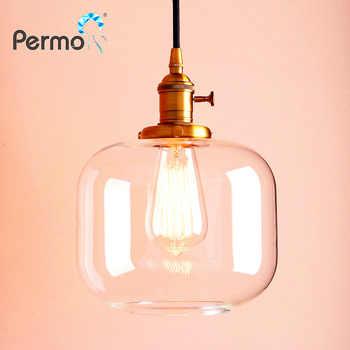 Permo Vintage Pendant Ceiling Lamps Modern Jar Glass Pendant Lights Kitchen Dining Hanglamp Retro Luminaire Loft Lights Fixture - DISCOUNT ITEM  0% OFF All Category