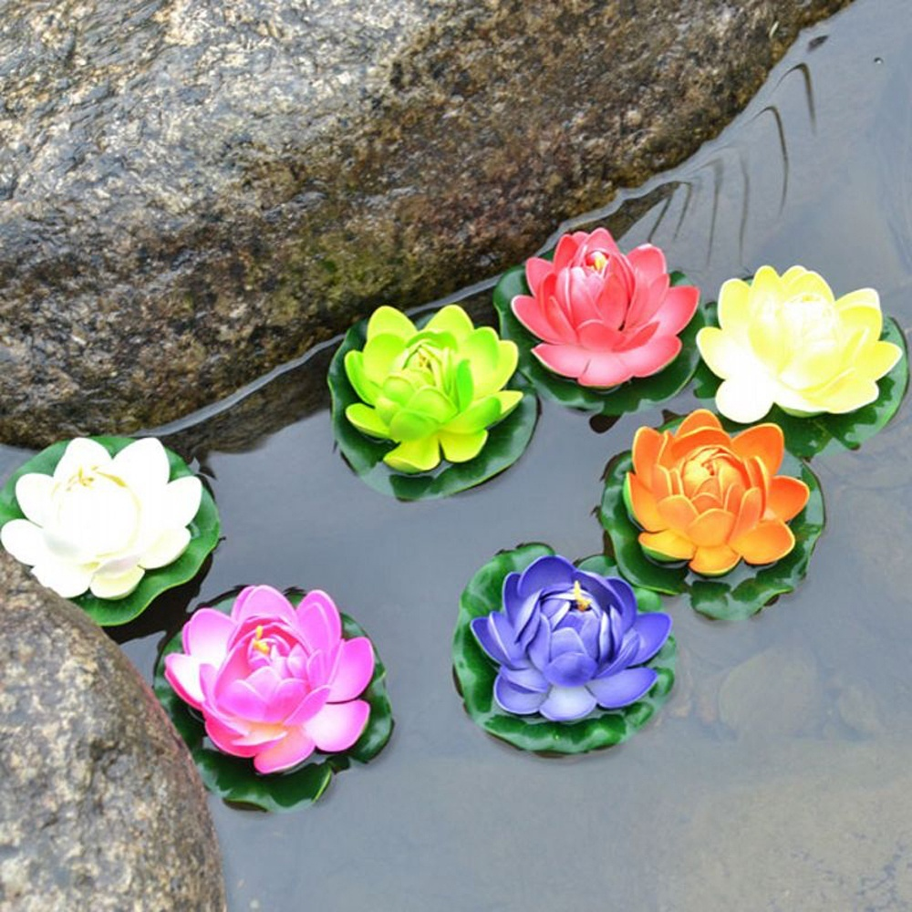 Compare prices on silk lotus online shoppingbuy low price silk home diy fish tank decor silk plastic mall outdoor wedding flowers for garden pool water lily dhlflorist Image collections
