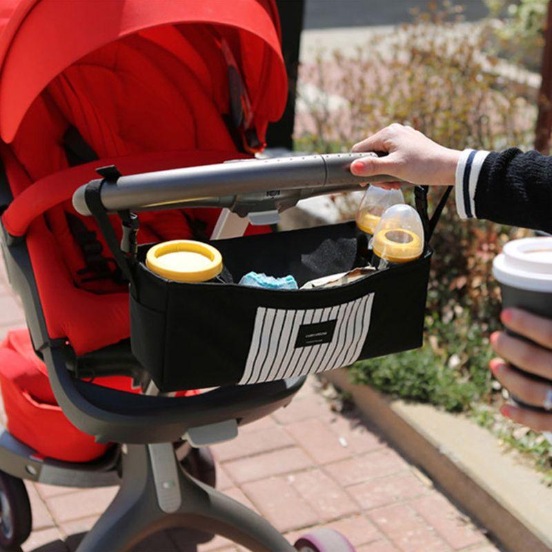 Baby Stroller Hanging Bag Carrier Nipple Cart Diaper Bottle Storage