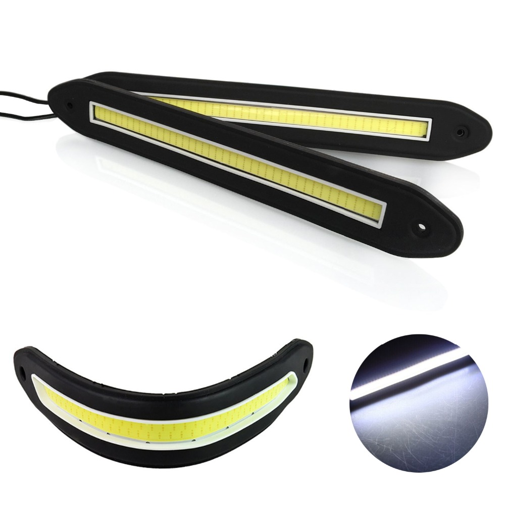 2pcs 80 SMD Strip shape COB DRL Bendable led Daytime Running light IP67 Waterproof COB Flexible LED Car Driving Fog Lights велотренажер inspire ic1