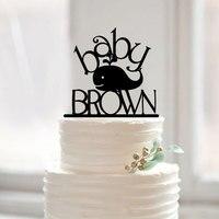 Baby Shower торт Toppers китенок имя торт Топпер Детские Бантинг праздничное нарядное Дизайн персонализированные первый День рождения украшения