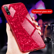 Luxury Tempered Glass Case For Huawei Y9 2019 P20 P30 Nova4 Mate 20 10 Lite honor 8C 8X Note10 Marble pattern hard Back Cover