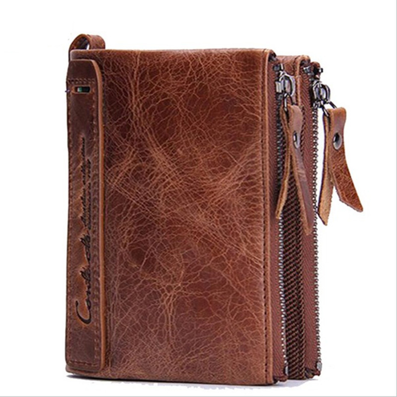 100% Genuine Leather Man Handmade Wallet 2016 Men Purses Carteira Masculina ID Credit Cards Holders 12*9.5 Cm / Wallets
