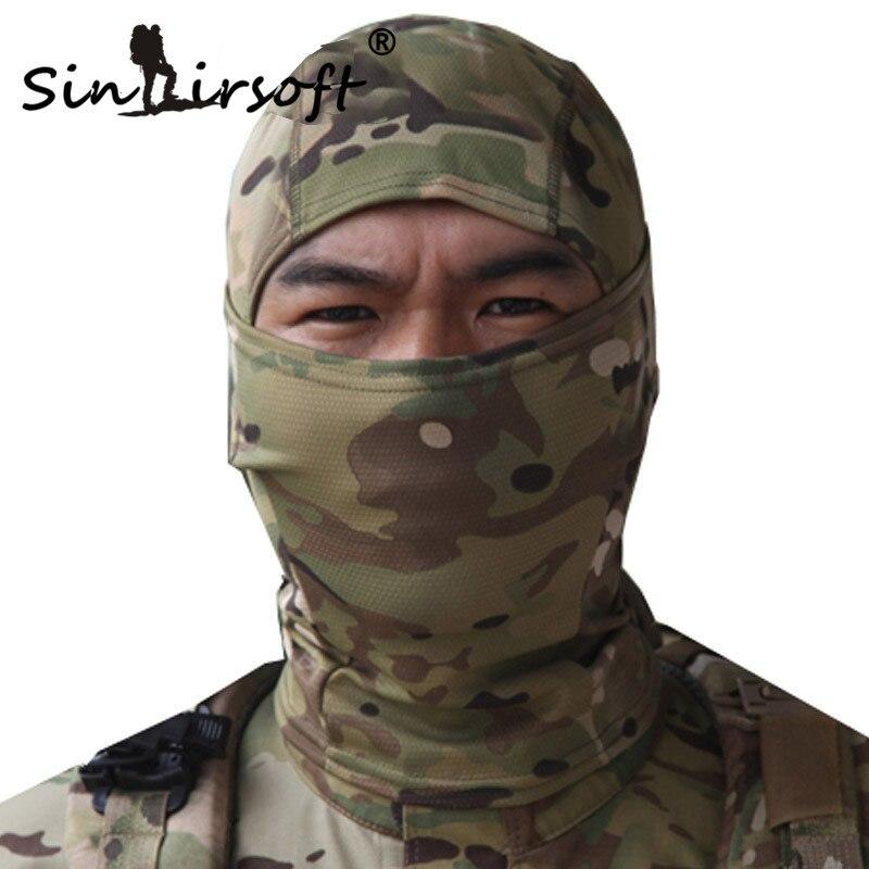 SINAIRSOFT Rattlesnake Tactical helmet Airsoft Hunting Wargame Breathing Dustproof Face Balaclava Mask Ski Cycling Full Hood