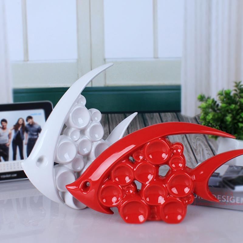 House Decoration Craft Kissing Fish Home Furnishings: Aliexpress.com : Buy Europe Creative Ceramic Fish Home
