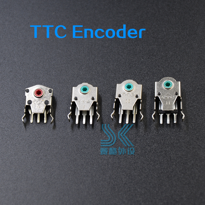 Original TTC Mouse Encoder Highly Accurate 8mm 9mm 10mm 11mm Green Red Yellow Core 2pcs Solve The Roller Wheel Problem