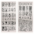 11 Design Choice Animal Floral Design Stencils For Nails Nail Art Stamping Plates Stainless Steel Stamp Polish Template JH342