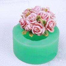 Rose blume silikonformen Rose blume Rose silikon seife formen Rosen silikagel sterben Aroma stein formen kerze mould
