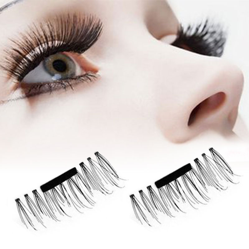 53c24587e44 4Pcs/Lot Magnet Eyelashes 3D Eyelashes Extension False Eye Lashes Reusable  Women Makeup Comestic Tools