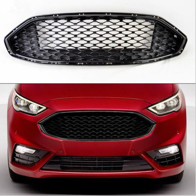 High Quality ABS Front Bumper Honeycomb Upper Grille For Ford Mondeo 2017 2018
