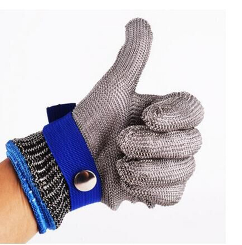 Metal Butcher Stainless Steel Safety Cut Proof Resistant Long Sleeve Mesh Gloves