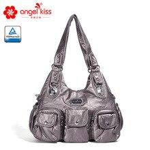 Angelkiss Женские повседневные вместительные сумки женские классические сумки через плечо женские модные сумки PU сумка-мессенджер