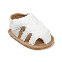 Romirus breathable embossed summer toddler girls sandals soft baby girl shoes closed toe brand sandals flat sandalet white TX007