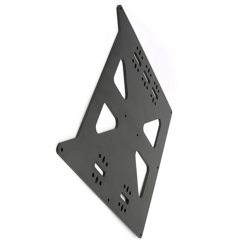 Image 4 - Black Aluminum Y Carriage Anodized Plate Upgrade V2 Prusa I3 V2 Hot Bed Support Plate For Prusa I3 Diy 3D Printer Parts-in 3D Printer Parts & Accessories from Computer & Office