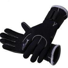3 мм неопреновое оборудование для ныряний перчатки Плавание перчатки оборудование для подводного плавания Anti Scratch Утепленная одежда гидрокостюм Материал зима Плавание подводной охоты