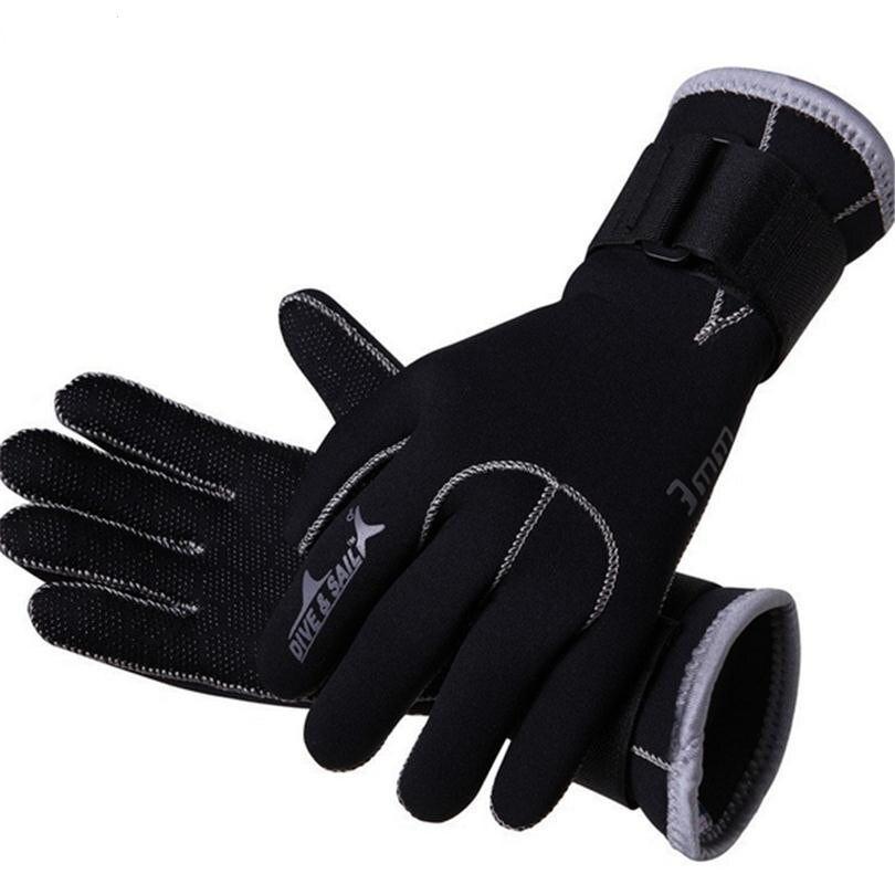 Guantes de buceo de neopreno de 3mm guantes de natación equipo de snorkel Anti arañazos mantener el calor Material del traje de baño de invierno