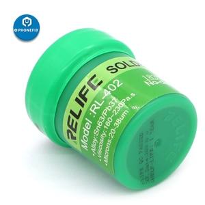 Image 5 - RELIFE No clean Soldering Paste RL 400 RL 401 RL 402 40g Sn63/Pb67 183°C Solder Paste for iphone phone BGA Reballing Soldering